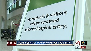 Some hospitals screening people upon entry due to coronavirus