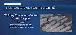 Free flu shots and health screenings