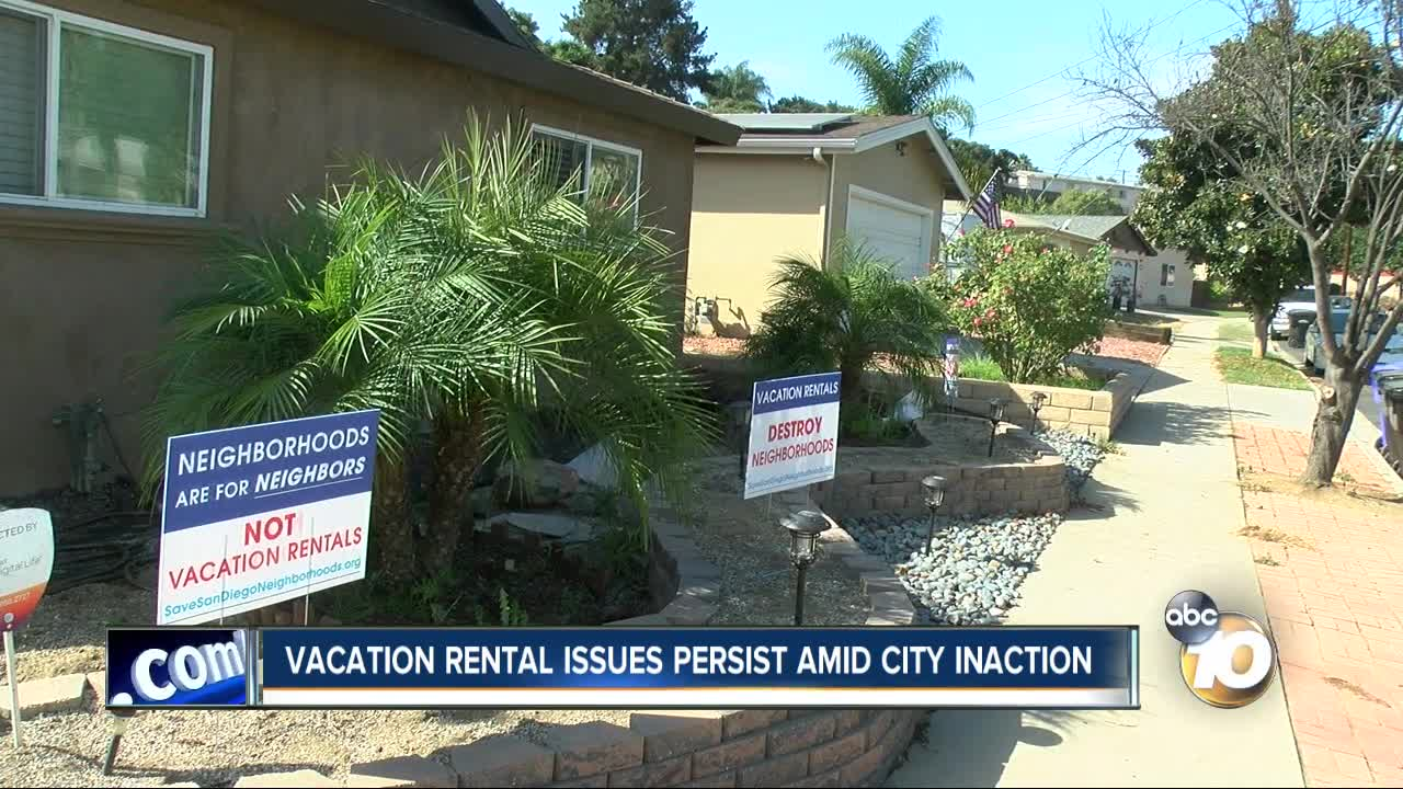 Vacation rental issues persist amid San Diego inaction
