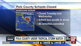 Polk County under Tropical Storm Watch