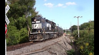 New York Susquehanna & Western Local Rail Road Switching In Cortland NY