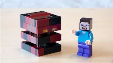 Lego Minecraft Magma Cube Tutorial (2017 Version)