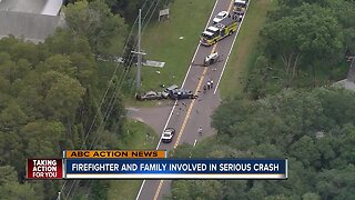 Pasco County firefighter's infant daughter critically injured after multi-vehicle crash