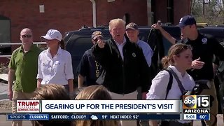 Gearing up for President Trump's Valley visit Friday