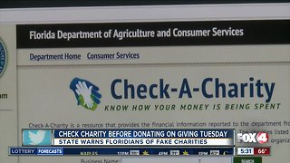 Check charities before donating on Giving Tuesday