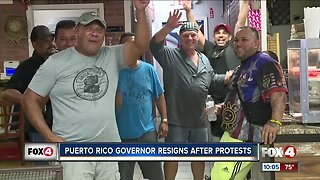 Southwest Floridians celebrating Puerto Rico Governor Resignation