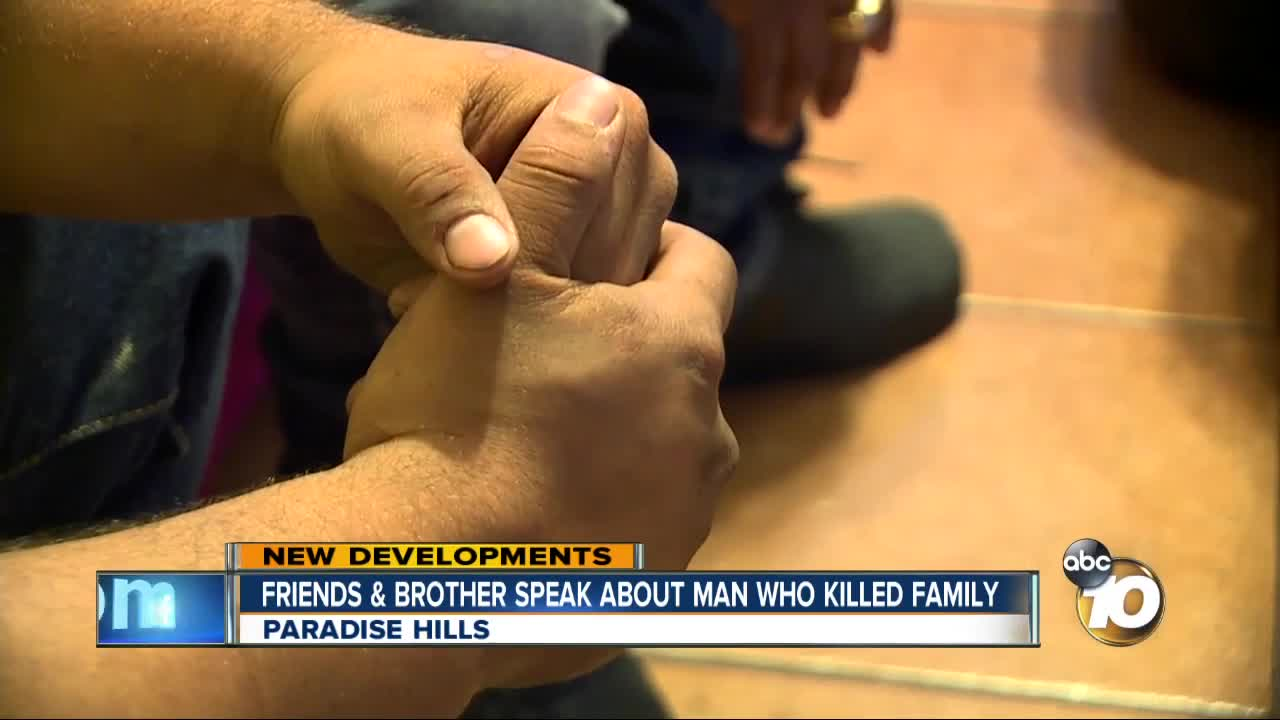 Friends and brother speak about man who killed family