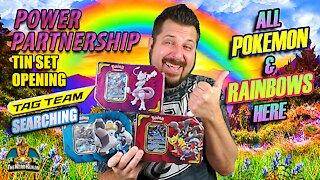 Power Partnership Tin Set | Tag Team Searching | Pokemon Cards Opening
