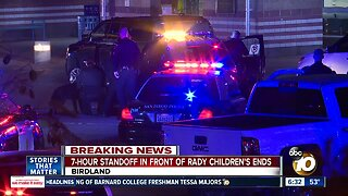 Standoff involving robbery suspect outside Rady Children's Hospital ends