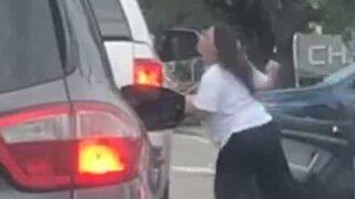 Violent argument between two drivers