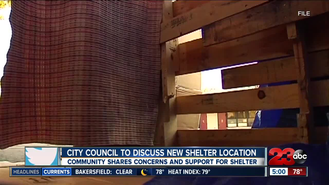 City council to discuss new shelter location