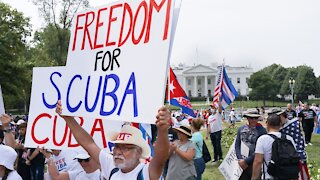 Protesters Demand More Support From President Biden For Cuba
