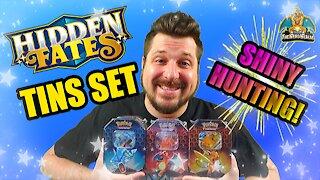 Hidden Fates Tin Set | Shiny Hunting | Pokemon Opening