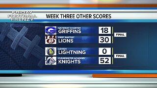 High School Football final scores week 3