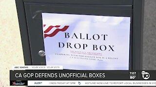 California GOP defends unofficial ballot boxes