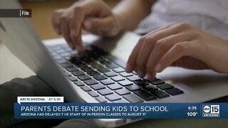 Parents debate sending kids back to school