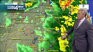 Severe weather moves out, cold temperatures move in