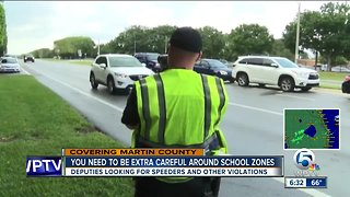 Martin County deputies on the lookout for speeding drivers in school zones