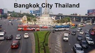 Bangkok Driving in City. Drive in Bangkok City Thailand