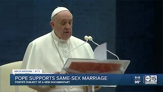 Pope supports same-sex marriage