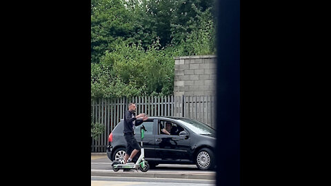 """Guy Riding E-Scooter Is Pulled Over For """"Illegal"""" Driving!"""