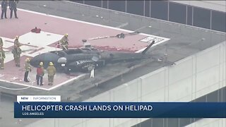 Helicopter crashes on USC hospital helipad