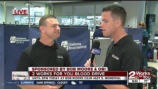 Blood drive OBI, Bob Moore with KJRH: August 3