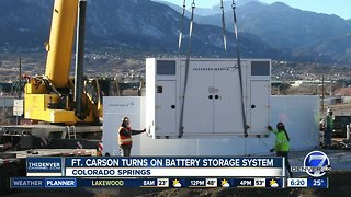Fort Carson turns on battery storage system