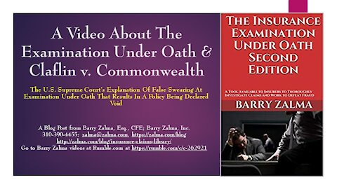 A Video About Claflin v. Commonwealth and the Examination Under Oath