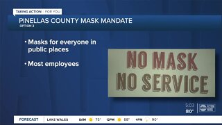Pinellas County Commissioners to vote on mandatory mask ordinance Tuesday