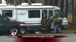 Jackson standoff suspect in court