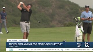 San Diego native Mickelson aiming for more golf history at Torrey Pines