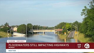 Floodwaters Still Impacting Detroit Highways