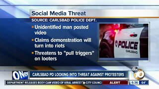 Carlsbad police look into threat against protesters