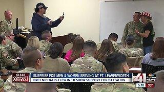 Bret Michaels makes surprise visit to Fort Leavenworth