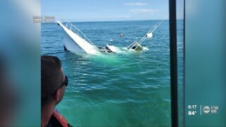 Coast Guard rescues 2 boaters after their boat started sinking