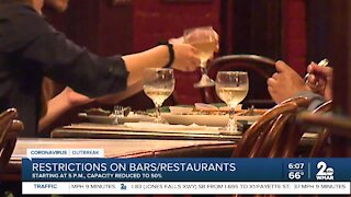 New restrictions on bars/restaurants take effect at 5 p.m.