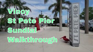 Walk-through of Vinoy marina and park, New St Pete Pier and Sundial in St. Petersburg Fl