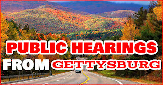 Public Hearings At Gettysburg On Election Irregularities 2020