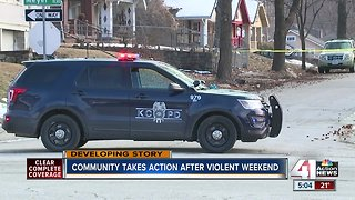 Community takes action after violent weekend