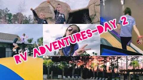 Mini golf and thunderstorms!!!! RV Adventures-Day 2 | Gabby's Gallery