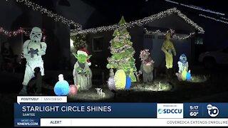Santee neighborhood mixes the holidays with Hollywood