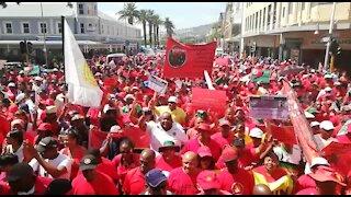 SOUTH AFRICA - Cape Town - Cosatu March (Video) (C5i)