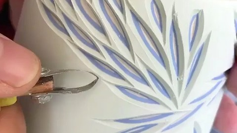 Amazing slip casting colored porcelain art