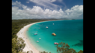 Drone Footage - Whitehaven Beach South, Airlie Beach, Queensland