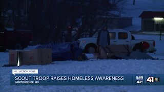 Kansas City-area scout troop camping out for the homeless
