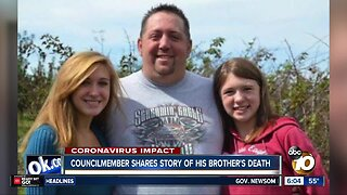 Councilmember shares story of his brother's death