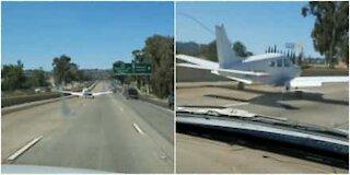 Atterraggio di emergenza in piena autostrada