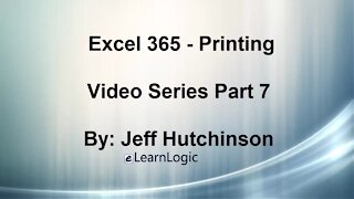 Excel 365 Part 7 – Printing A Spreadsheet