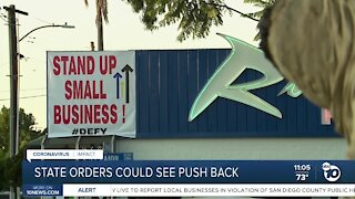State orders could see push back